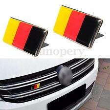 2 German GERMANY Flag Emblem Badge Sticker+Bracket For VW Golf Jetta Scirocco