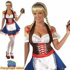 OKTOBERFEST SEXY BAVARIAN FRAULEIN UK 10-14 - ladies womens fancy dress costume