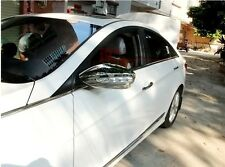 Chrome Side Mirrors Rearview Cover Trim For Hyundai SONATA 2011-2013