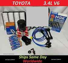 NGK Wire Set-Spark Plugs-Air-Fuel-Oil-Kit 98 Toyota 4runner Tacoma  V6 3.4L