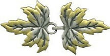 Leaves Cloak Clasp medieval Leaf accessory lotr heavy, hardened metal durable