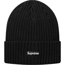 Supreme Overdyed Ribbed Beanie SS17 - Black