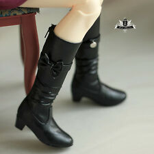 MSD Shoes 1/4 BJD Boots Dollfie EID MID DOD SOOM AOD Dollmore Black Boots 0128