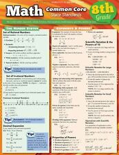 Math Common Core 8Th Grade by Inc. BarCharts (2012, Book, Other)