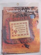 """""""Greatest Oak"""" Pillow - Counted Cross Stitch Kit By Yours Truly #2419 - NEW"""