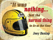 Joey Dunlop Helmet, Motorbike Racing Quote, IOM TT Bike, Small Metal/Tin Sign