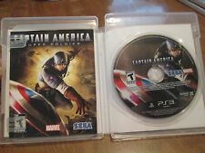 Captain America Super Soldier PS3 SONY VIDEOGAME COMPLETE VERY RARE HARD TO FIND