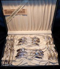 Antique OREGON 1900 Silverplate Svc for 6 w Chest- from Masonic Temple, Chicago