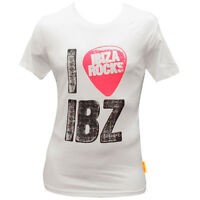 OFFICIAL Ibiza Rocks: I Plec Ibiza Plectrum Logo Men's White T-shirt RRP £40.00