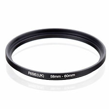 58mm to 60mm 58-60 58-60mm58mm-60mm Stepping Step Up Filter Ring Adapter