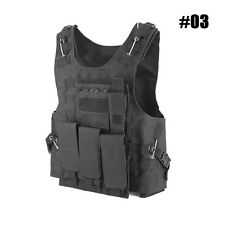 Tactical Military Police Airsoft Molle Combat Assault Plate Carrier Hunting Vest
