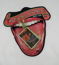Rolling Stones 1980's Concert Photo Key Chain – Mint On Card
