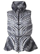 PETER PILOTTO PEARL PRINT PUFFER VEST BLUE MULTI SIZE IT 44 US 8 $1610