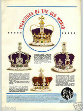 1939 PAPER AD The Crown Jewels Of England St. Edward's Queen Mary King's Sceptre