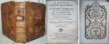 MAISON RUSTIQUE   / 2è tome illustré de 1755 / Jardins,  Vigne, Chasse, etc