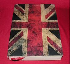 "Union Jack Leather Bound Journal - Made In Italy ~ NEW ~ 6"" x 8"""