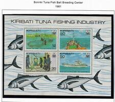 KIRIBATI MNH 1981 BONRIKI TUNA FISH BAIT BREEDING CENTRE MINISHEET