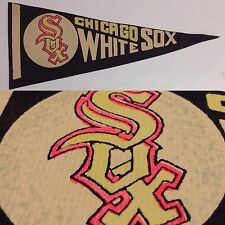 Early 1960's Chicago White Sox Mini Pennant Flag Banner 3.5x9 Illinois Comisky