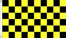 5' x 3' Black and Yellow Check Flag Checkered Checked Banner
