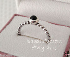 Authentic PANDORA Black Onyx MY DESIRE Sterling SILVER Ring Sz 8.5/58 190610O