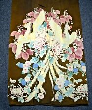 20s Vintage SILK KIMONO_Screened Cranes_Chrysanthemums_Forbidden Stitch_5 Crests