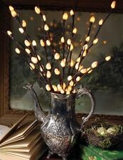 "Victorian Trading Co 4 Lighted Pussy Willow Branches 20"" Tall"