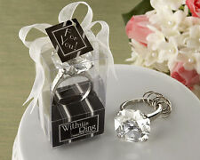 Diamond Engagement Ring Keychain Key Chain Wedding Favors Bridal Shower Favors