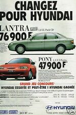 Publicité advertising 1996 Hyundai Lantra et Pony