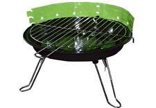 Tischgrill Holzkohlegrill BBQ Partygrill Minigrill grün Barbecue Grill Rundgrill