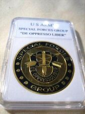 """U S ARMY SPECIAL FORCES GROUP """"DE OPPRESSO LIBER"""" Challenge Coin"""