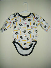 NFL Pittsburgh Steelers Logos Infant Baby Size 3-6 Months Body Snap Suit
