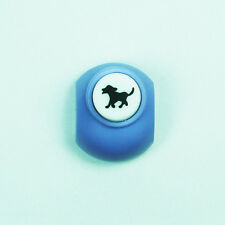 Craft paper punch BARKING RUNNING DOG shape scrapbook maker puncher DIY card tag