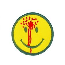 SMILEY FACE WITH BULLET HOLE PATCH