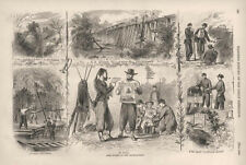 Army Scenes on the Chickahominy      -       Civil War