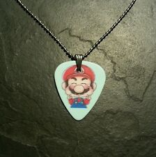 Nintendo Super Mario Brothers Guitar Pick Necklace Gift Video Game Gift Present