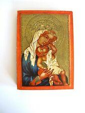 Holz Ikone Heiligenfigur Madonna Böhmischer Meister