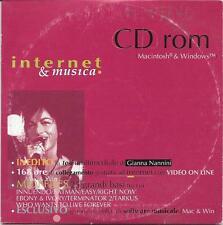 """GIANNA NANNINI - RARO CD-ROM 1995 """" INTERNET E MUSICA """""""