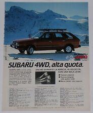 Advert Pubblicità 1982 SUBARU LEONE SW