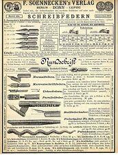 Soennecken Bonn SCHREIBFEDERN Historische Annonce 1884
