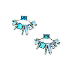 NiX 1465 New Retro Detachable Fanned Stud Earrings Crystal Earring Women Girl