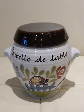 "Fourmaintraux Dutertre Desvres Pottery Countertop Trash Bin ""Poubelle de table"""
