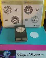 "Stampin Up FOUR SEASONS & 2 3/8"" SCALLOP CIRCLE Punch Bird Butterfly Medallions"
