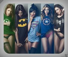 Misc Females // Superhero, Batman, Superman, Hot, Sexy // Mouse Pad [NEW!] 1