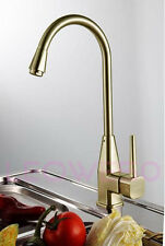 SALE! Monobloc Single Lever Brush Brass Kitchen Tap Mixer Faucet 7082