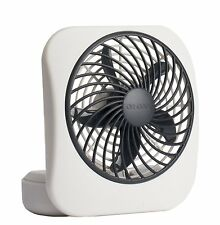 """O2COOL 5"""" Battery Operated Portable Fan in WHITE/GREY, New, Free Shipping"""