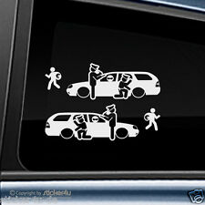 (1666) 2x  Fun Sticker Aufkleber / Catch Real Criminals Ford Mondeo MK2 Turnier