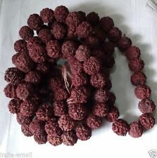 Rudraksha Mala Holy Hindu 12mm-14mm 108 + 1 Beads Rosary Mala Japa Mala Necklace
