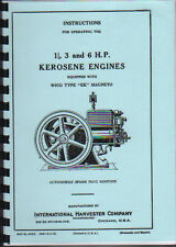 International 1.5, 3 & 6hp Stationary Engine, with Wico Mag Operating Parts Book