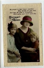 (Gn612-395) Real Photo of GLADYS COOPER & Kids c1920 VG Rotary B294-1