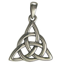 Small Sterling Silver Celtic Knot Triquetra Trinity Knotwork Pendant Jewelry